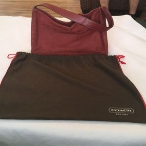 COACH Beautiful Leather and Suede bag